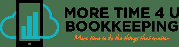 More Time 4U Bookkeeping Logo - Horizontal